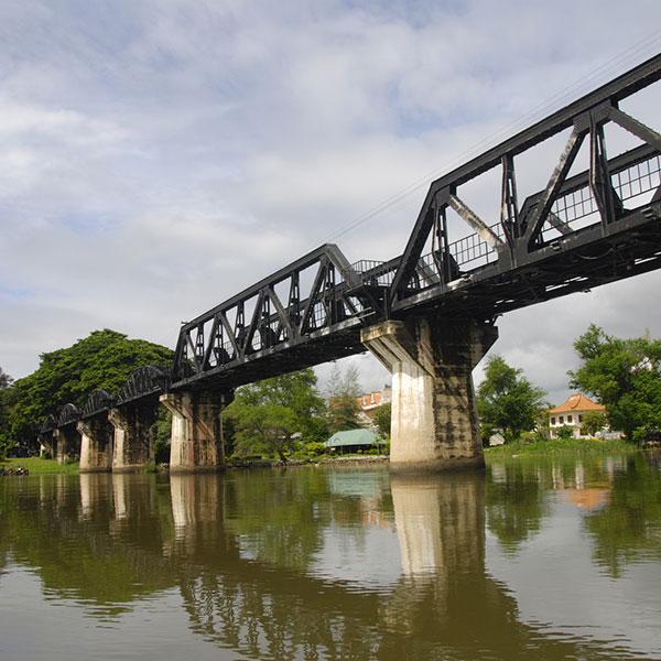 Río Kwai en Tailandia