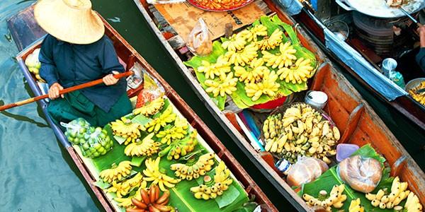 Visita opcional al mercado flotante de Saduak en el viaje a Tailandia Laos y Camboya
