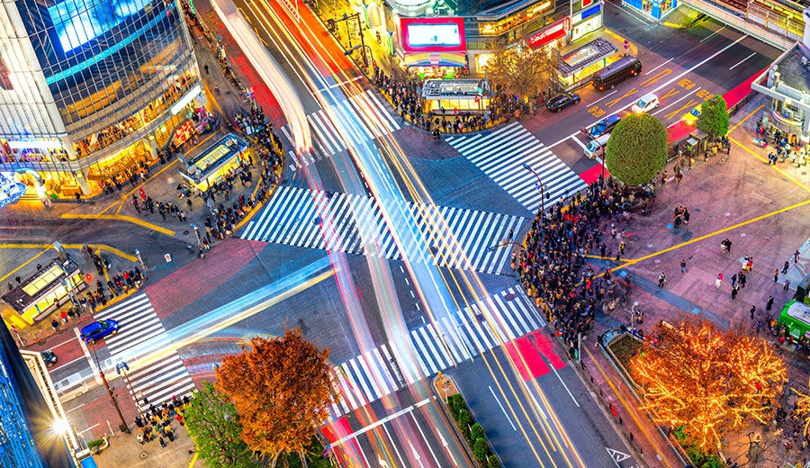 Cruce Shibuya en Tokio