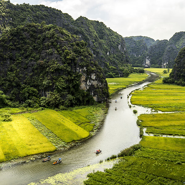 Tam Coc, visita en el circuito por Vietnam