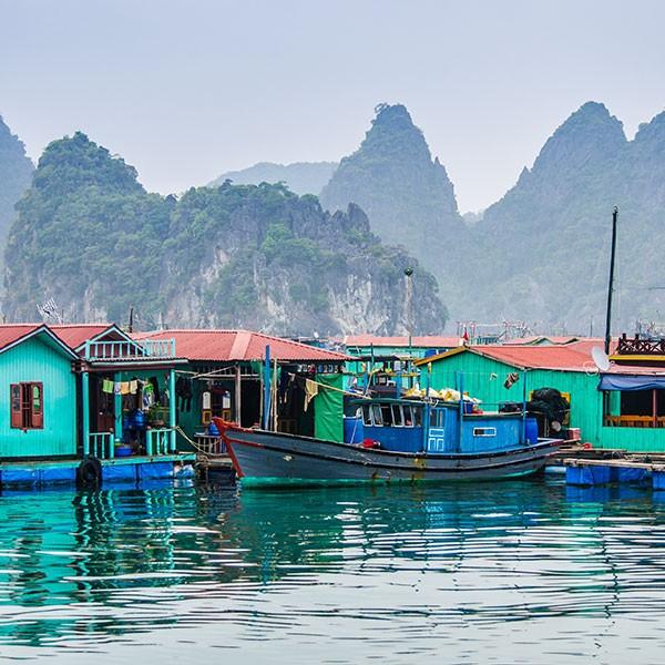 Casas sobre pilotes ecoturismo en Vietnam