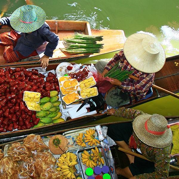 Crucero por el río Mekong: mercado flotante en Vietnam