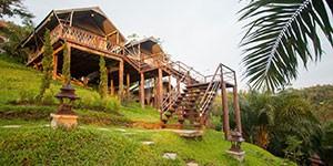 Hotel boutique Khao Sok Camps en el sur de Tailandia