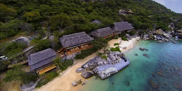 Resort Six Senses en las playas de Ninh Ban Bay
