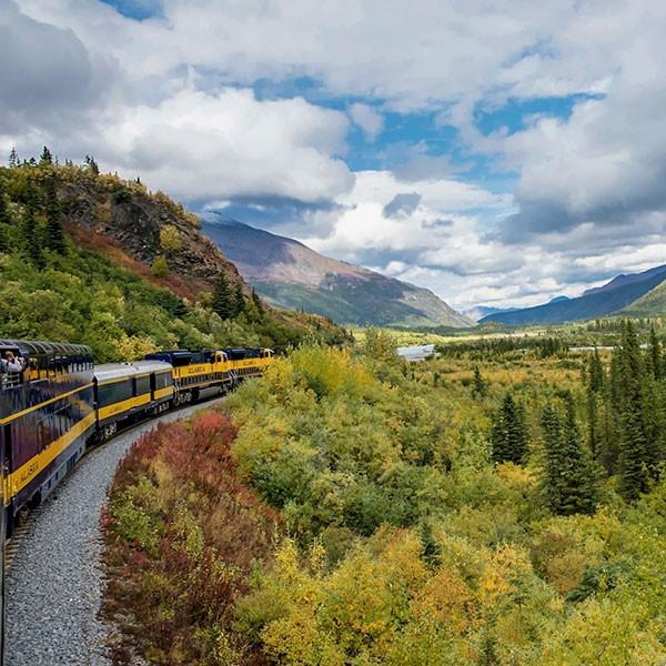 Viaje en tren por Alaska