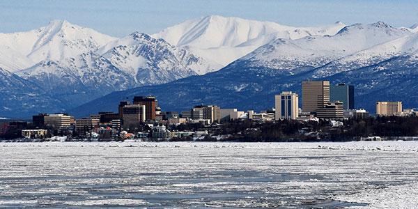 Anchorage, inicio del viaje en tren por Alaska