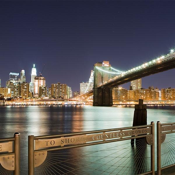 Puente de Brooklyn , Nueva York, costa este EEUU