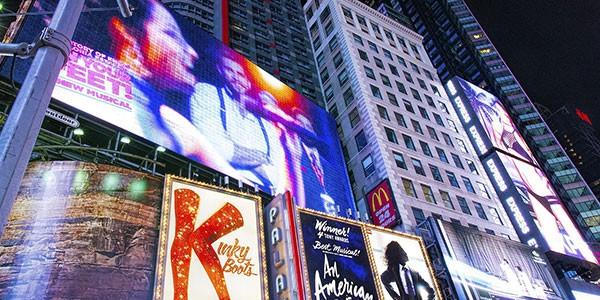 Espectáculo musical en Broadway en el combinado de luna de miel Nueva York