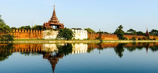 Palacio de Mandalay en Birmania
