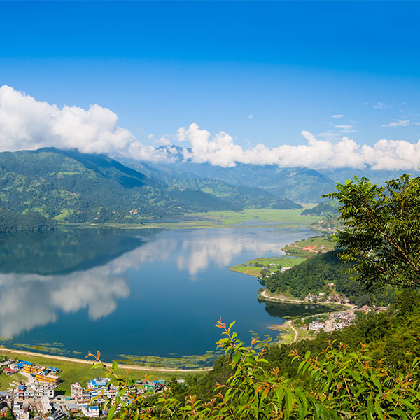 Vista panorámica de Pokhara