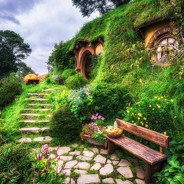 Casa de Bilbo en Hobbiton Matamata Nueva Zelanda