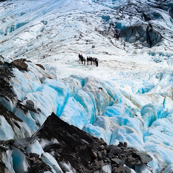 Glaciar en Nueva Zelanda