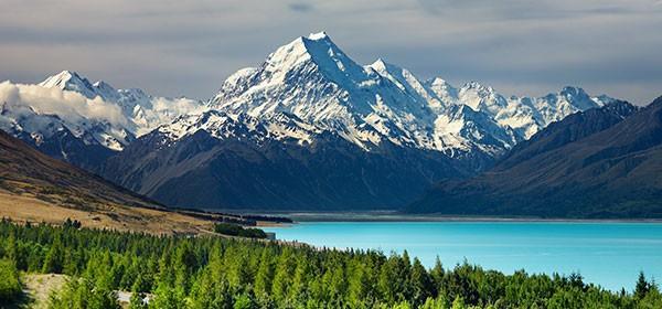 Alpes del Sur en Nueva Zelanda