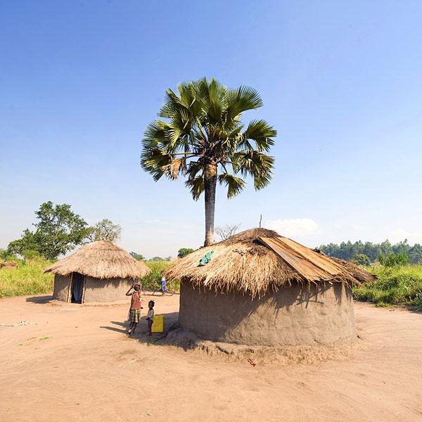 Poblado en Uganda
