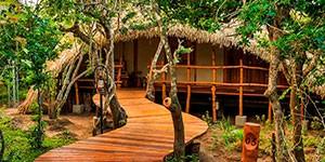 Chena Huts alojamiento en el viaje de lujo a Sri Lanka