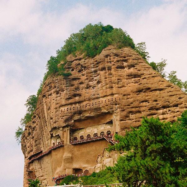 Cuevas budistas de Maijishan en el viaje Ruta de la Seda China