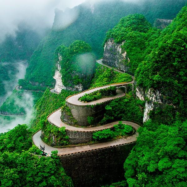 montaña Tianmen en la ruta Avatar en Zhangjiajie China