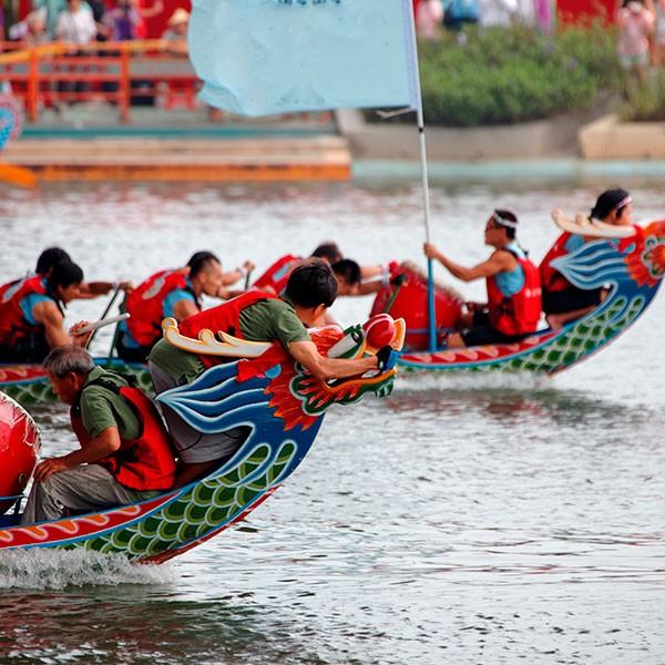 Regata de Dragon Boat en Xiamen