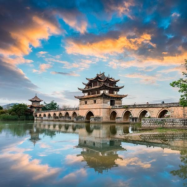 Puente Doble del Dragón en Yunnan