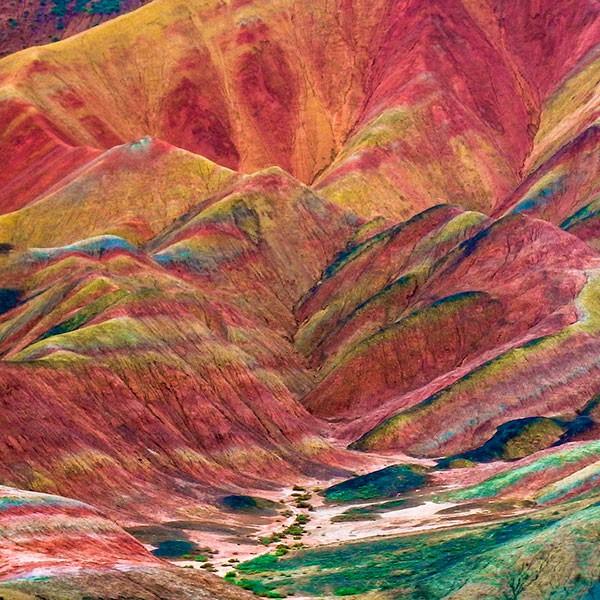 Parque Geológico Nacional de Zhangye Danxia en China