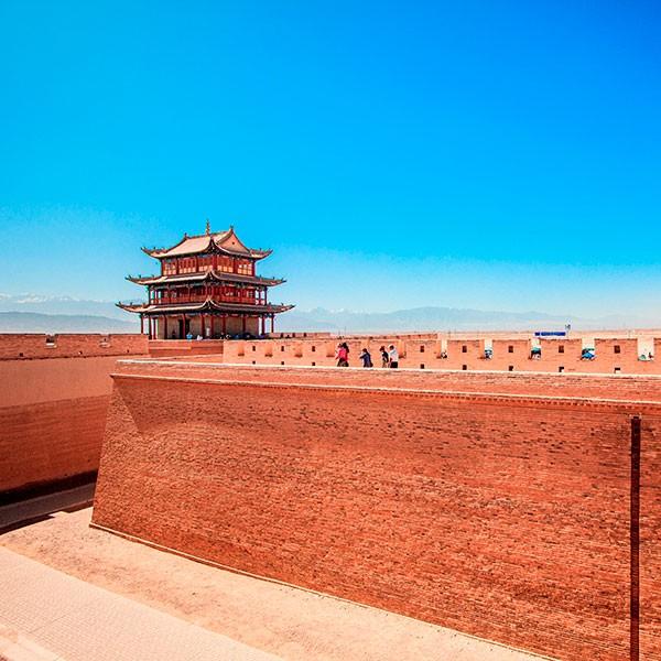 Puerta de Jiayuguan en la Gran Muralla China