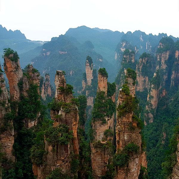 Ruta Avatar China Parque Nacional Zhangjiajie