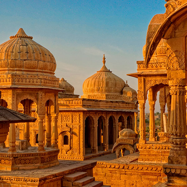La ciudad dorada de Jaisalmer en Rajastán