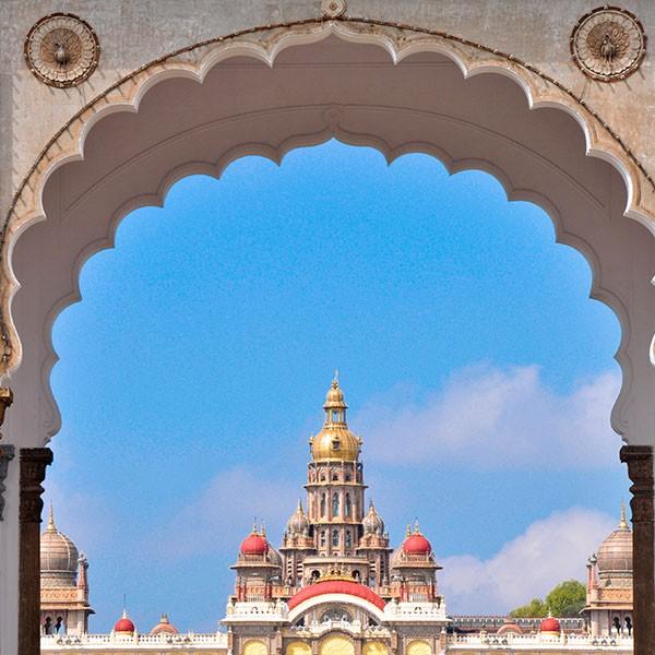 Palacio de Mysore en el sur de India