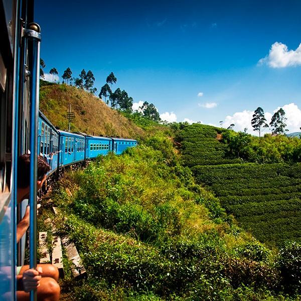 Tren a Nuwara Eliya en Sri Lanka