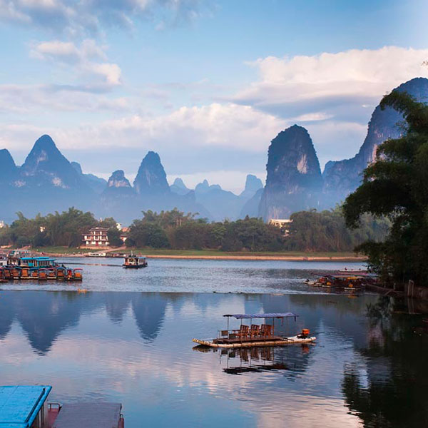 Panorámica de Yangshuo en China