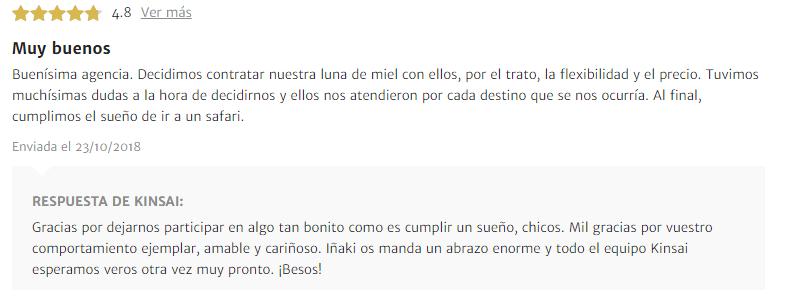 Rebeca Martín opinión sobre su luna de miel