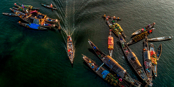Mercado flotante de Can Tho, imprescindible en el viaje Vietnam en 10 días
