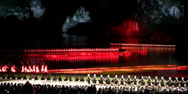 Espectáculo de luces Impression Liu Sanjie en Yangshuo China